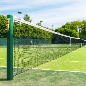 VERMONT 3MM TENNIS NET [42FT DOUBLES - 6.5KG] - LOOP & PIN CABLE TYPE