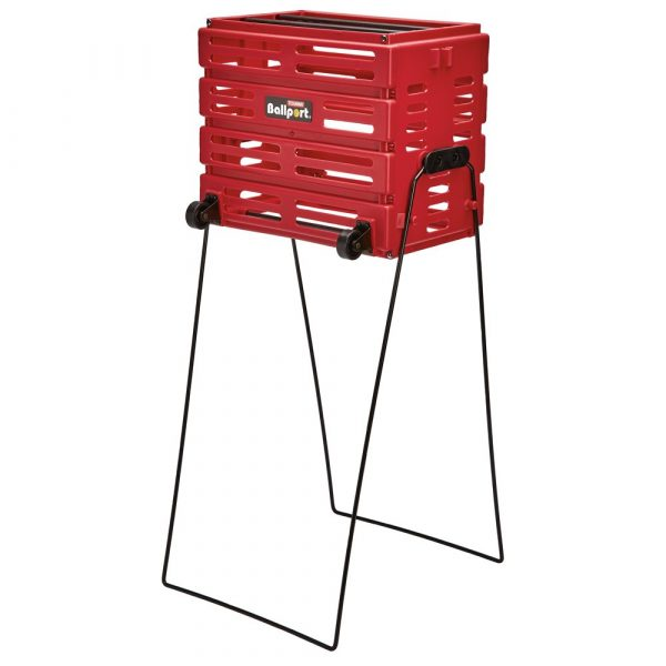 Deluxe Ballport With Wheels (Red) - holds 80 balls