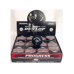 Dunlop Progress Squash Balls - 1 Dozen Balls