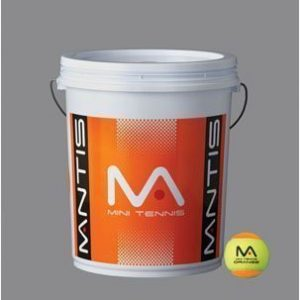 Mantis Mini Orange Tennis Balls - 1 Bucket of 72 Balls