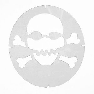 Skull and Crossbones – Racket Strings Stencil
