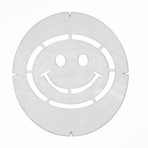 Smiley Face – Racket String Stencil